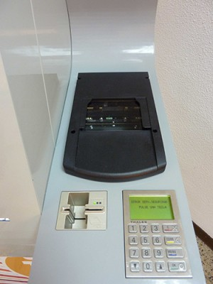 Módulo lector de e-passport con tarjeta